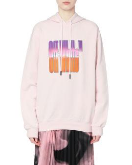Gradient logo hoodie
