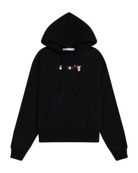 Acrylic Arrow logo hoodie