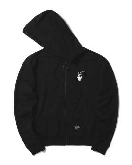Caravaggio arrow zip-up hoodie