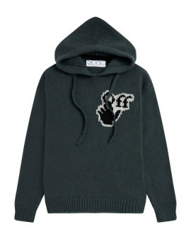Hand Off knit hoodie