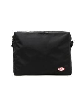 Logo patch messenger bag