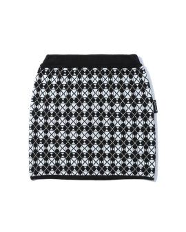 Intarsia mini skirt