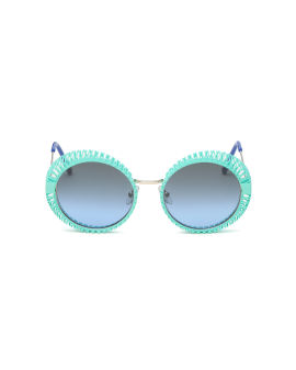 Spiral frame round sunglasses