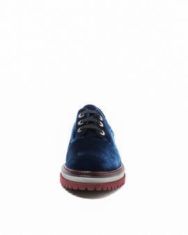 Velvet oxford shoes