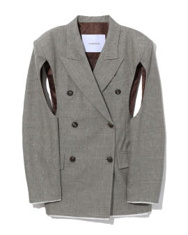 Cut-out sleeves blazer