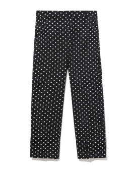 Polka-dot cropped pants