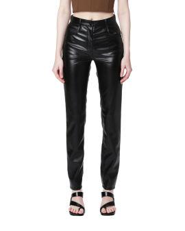 Slim-fit faux leather pants