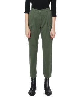 High-waisted cargo pants