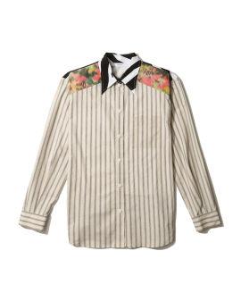 Panelled printed shirt