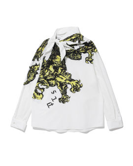 Printed removable collar top