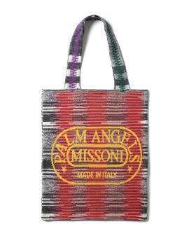X Missoni knit shopper bag