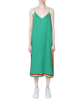 Exodus monogram slip dress