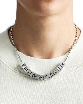 Dice logo silver necklace