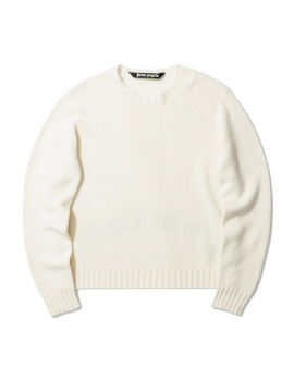 Curved logo sweater