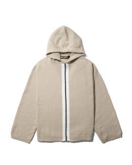 Fleecy knit hoodie