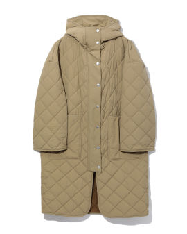 Logo quilted coat