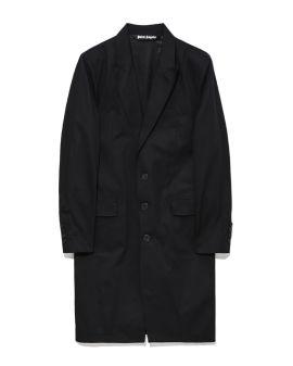 Curved logo pinrt class coat