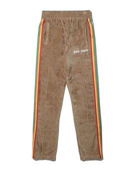 Rainbow chenille track pants