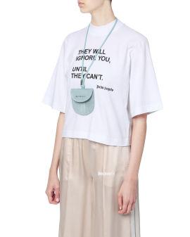 Logo neck pocket bag