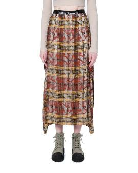 Asymmetrical plaid skirt