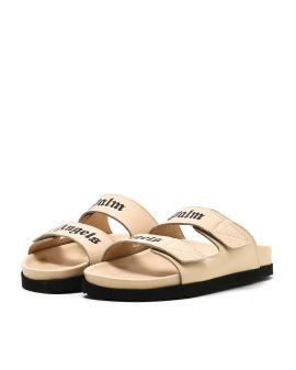 Double logo strap sandals