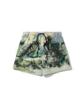 Jungle print swim shorts