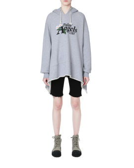 Daisy logo fleece poncho hoodie