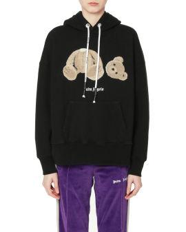 Bear over hoodie