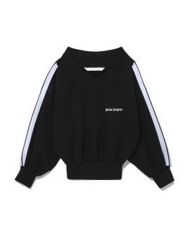 Track off-shoulder sweatshirt
