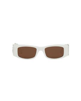 Oversized logo sunglasses