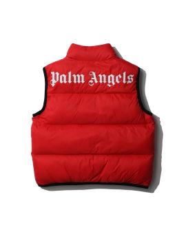 Logo sleeveless puffer vest