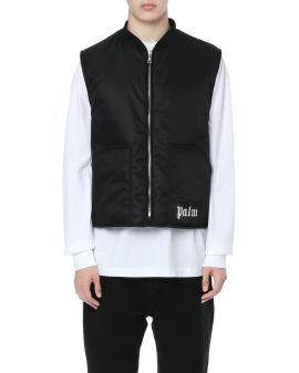 Curved logo vest