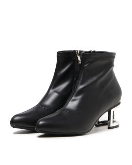 Cutout heel ankle boots