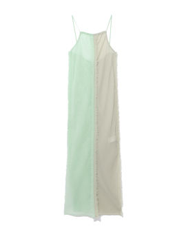 Panelled frayed dress