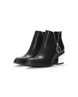 Zip-embellished boots