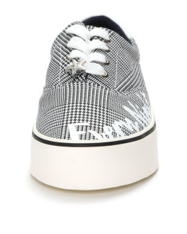 """Dream Every Night"" glen plaid sneakers"