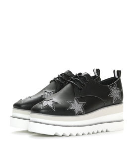 Glitter star platform oxford shoes