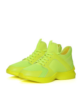 Panelled chunky sneakers
