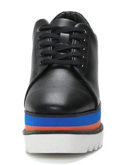 Colorblock platform heel sneakers