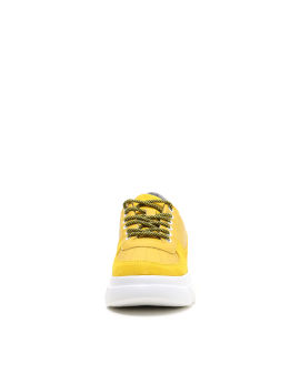 Chunky suede panel sneakers