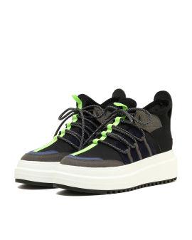 Colour block platform sneakers
