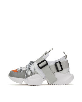 Colour block strap chunky sneakers