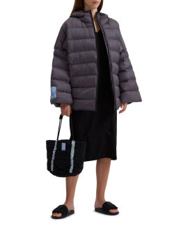 Breath quilted puffer jacket