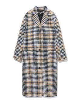 Houndstooth plaid coat