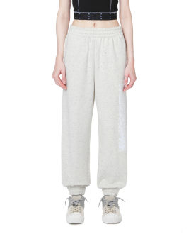 Logo patch speckled sweatpants