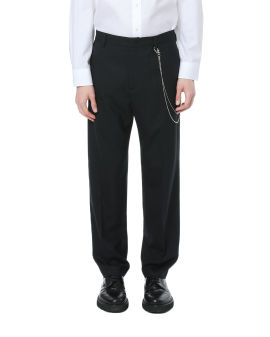 Fasciated tailored pants
