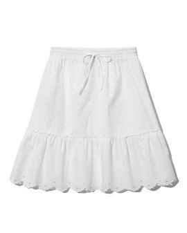 Scalloped peasant skirt