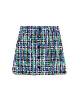 Tweed plaid skirt