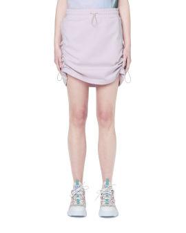 Drawstring detail mini skirt