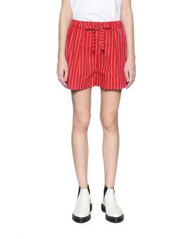 Stripe utility shorts